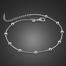 Charming lady sterling silver Anklets.Solid 925 silver fashion women ankles.Contracted 29cm snake chain anklets. girl  jewelry