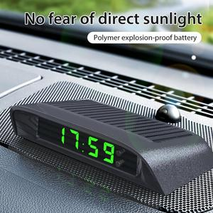 Zegar samochodowy Auto wewnętrznego Stick-On cyfrowy zegarek zasilany energią słoneczną 24 godziny wbudowana bateria Auto zegar do samochodowe akcesoria dekoracyjne