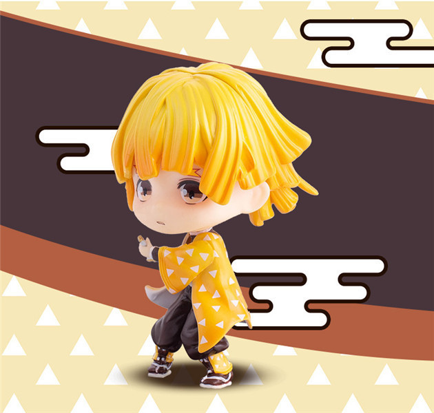 Kimetsu no Yaiba Figure Giyuu Nezuko Zenitsu 80mm Q.Ver PVC Toy Demon Slayer Anime Nezuko Action Figure Toys