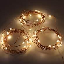 Guirlande lumineuse féerique à fil argent, 10m 20m 30m, 12v dc, pour noël, avec interrupteur EU, adaptateur secteur, décor de mariage