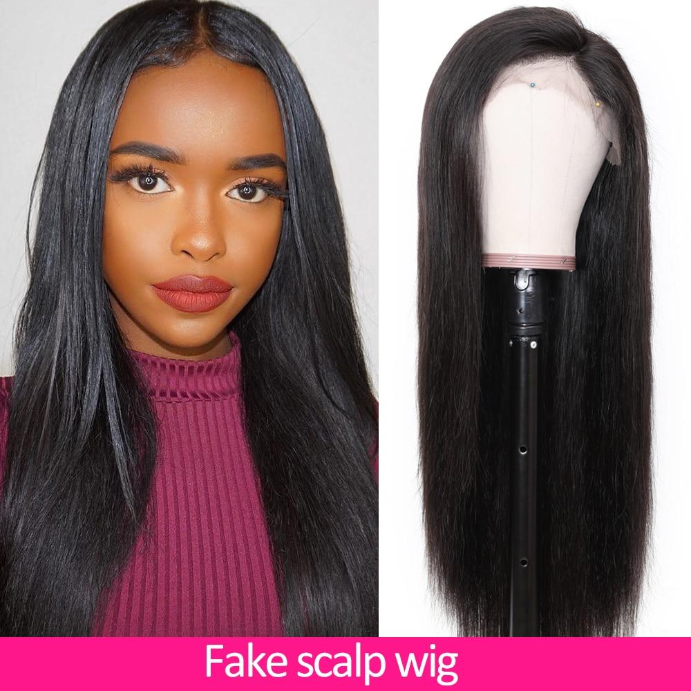 Nadula волосы 13x4/6 поддельные головы парик прямой кружевной передний человеческие волосы парики предварительно сорванные бразильские волосы