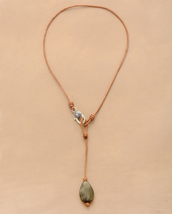 New Chokers Women Necklaces Pyrite Leather Short Y Necklace New Fashion Statement Men Punk Necklaces Jewelry(China)