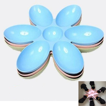 6-Connected Bowls Water-Food-Feeder Cat-Feeding-Bowls Dogs for Small Cats Petal-Shape