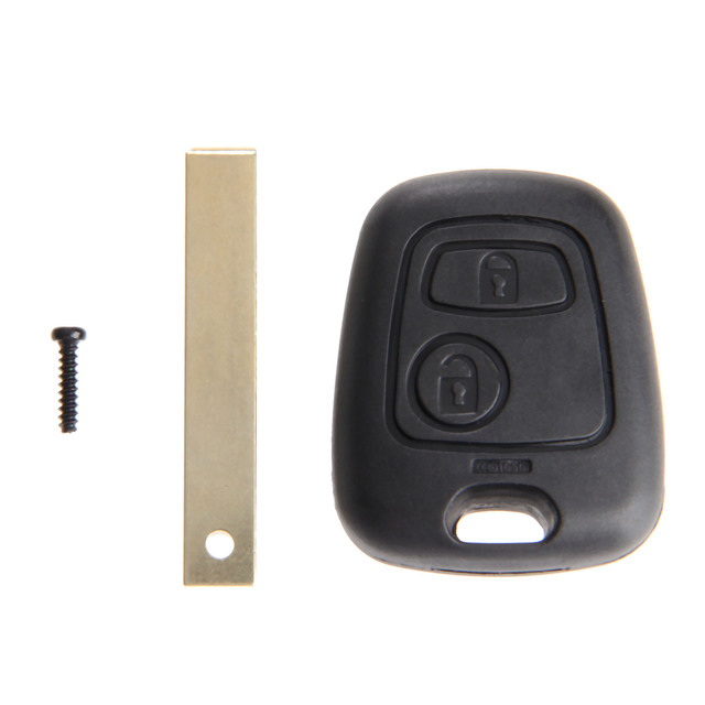 2 Buttons Replacement Key Shell Uncut Blade Car Remote Blank Key Fob Case Covers For Peugeot 107 207 307 407 607 1007 C2