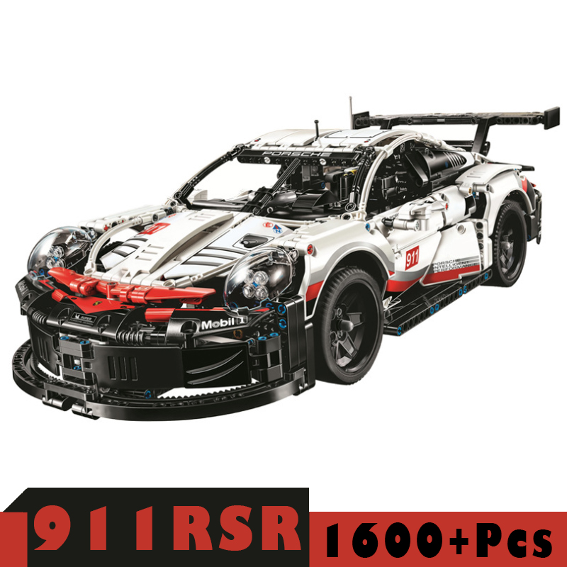 City Speed Champions Sports Car 911RSR Compatible Legoingly Technic Racing Car Super Racers Building Blocks Bricks Kids Toys