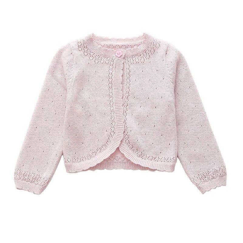 Детская одежда с длинными рукавами для девочек, кардиган, свитер, розовый 100% хлопковое пальто для девочек на возраст 1, 2, 3, 4, 6, 8 От 10 до 11 лет ...