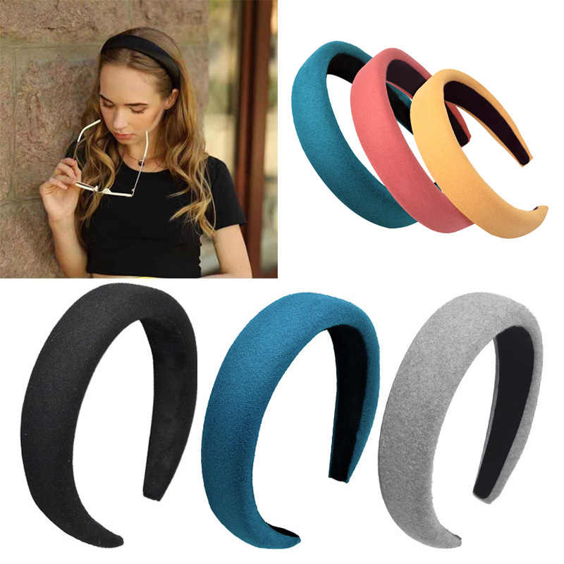 Women Sponge PomPom Hairband Headband Turban Hair Accessories Hair Hoop Gift