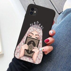 Image 5 - Luksusowa kobieta korona hidżab twarz muzułmanin islamski Gril oczy pokrywa etui na telefony dla Iphone 11 Pro Max X 6S 7 8 Plus XR XS MAX SE 2020