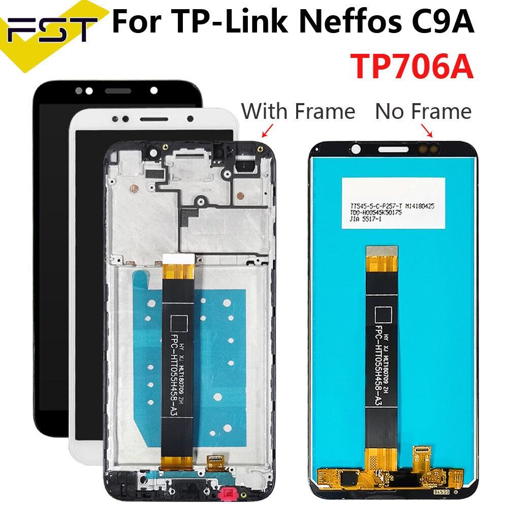 ЖК-дисплей, кодирующий преобразователь сенсорного экрана в сборе для экрана C9A TP706A, 5,45 дюйма, для TP-LINK, Neffos C9A TP706A