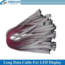 10 pièces/lot en cuivre étamé 50 cm, 80cm de Long fil plat/câble de moyeu câble de données en cuivre étamé pour laffichage de LED