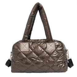 2019 New Shoulder Bag Cotton Space Quilted Feather Bag Bale Winter Bag Women Casual Down Grillwork Handbag Warm Shoulder Bags