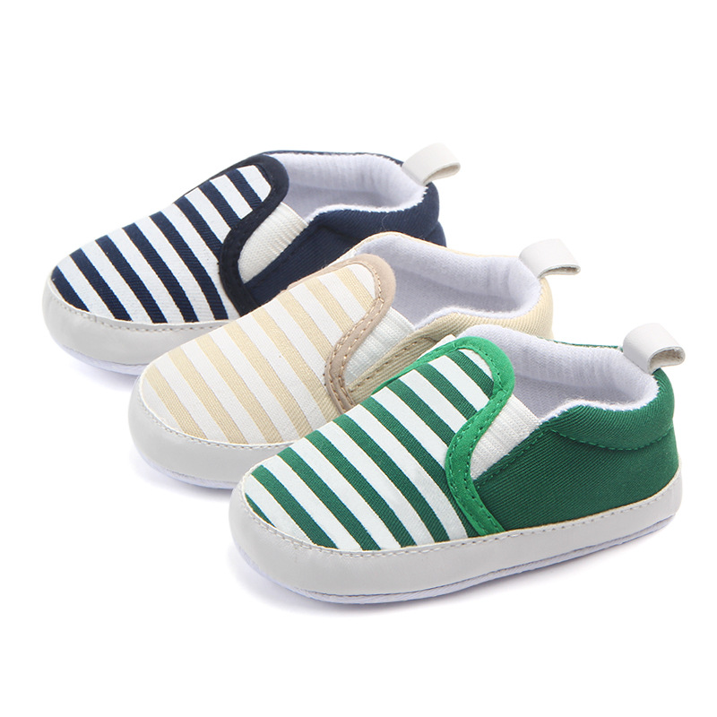 Striped Unisex Baby Shoes Spring Autumn Slip-on Infant Newborn Children's Casual Shoes For 0-18 Months