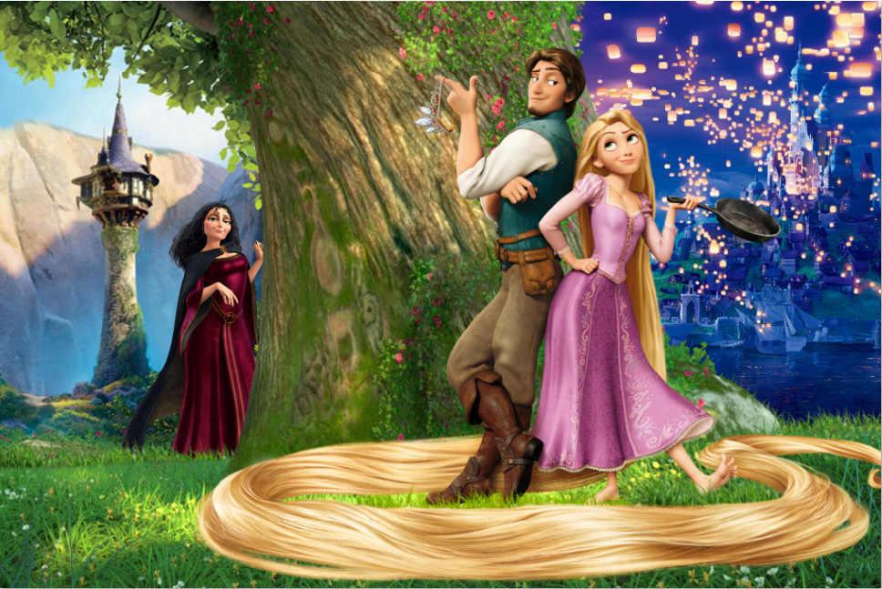 7x5ft Romantic Tangled Rapunzel Princess Prince Mountain Tree Custom Photo Studio Backdrop Background Vinyl 220cm X 150cm Aliexpress