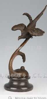 Garden Decor รูปปั้น Bronze ประติมากรรม Flying BIRD Bronze รูปปั้น