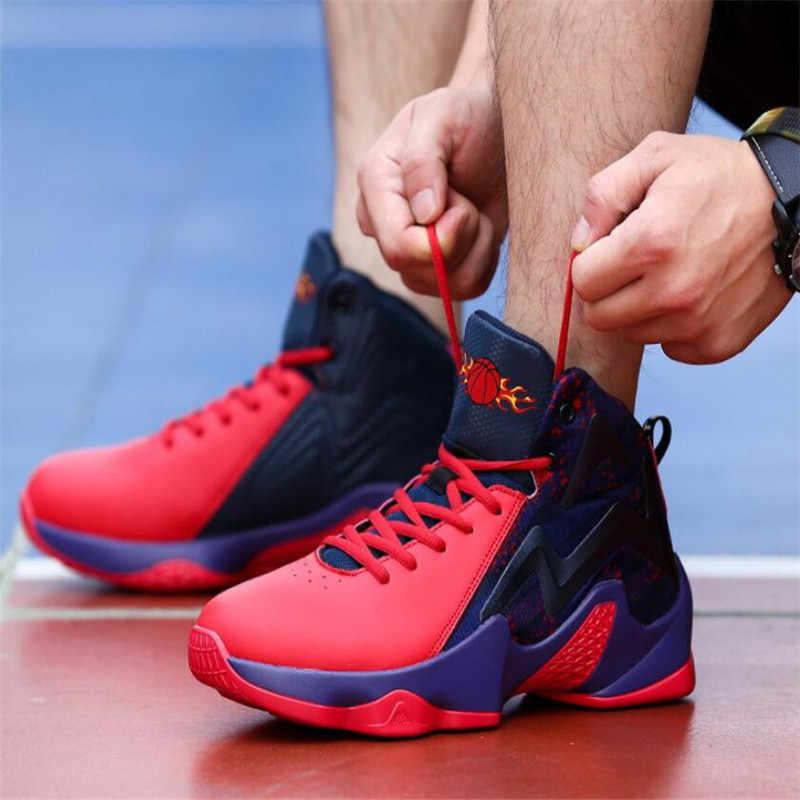 Mans Licht Jordan Basketbal Schoenen Mand Homme Sport Schoenen Zapatillas Hombre Atletische Heren Schoenen Gym Enkellaarsjes Sneakers
