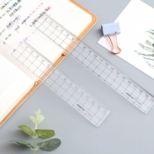 Square Ruler Drawing-Supplies Cute Stationery Transparent 20cm 1pcs 18cm Simple