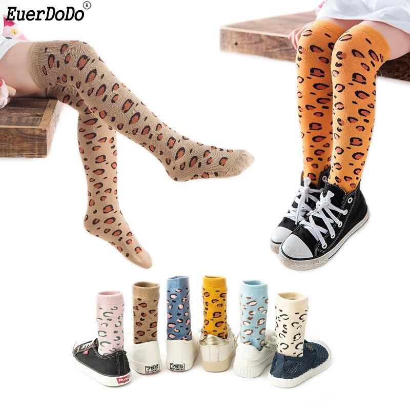 Kids Knee High Socks For Boys Girls Leopard Socks For Children Boy Girl Age 3 4 5 6 7 8Y Toddler Cheap Stuff Boys Girls