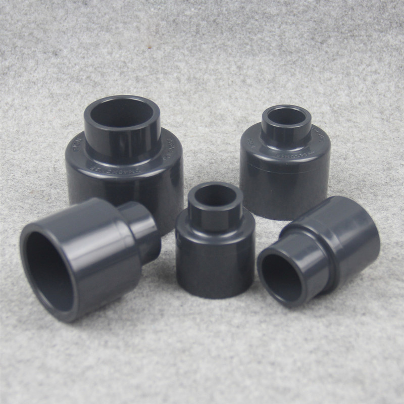Gray Black Tube Fitting Reducing Straight Connectors Garden Water Pipe Connector PVC Pipe Fittings 1 Pcs image