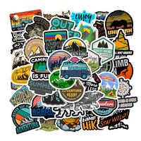 50 pièces En Plein Air Rétro Voyage Aventure Autocollant Pour Moto Skateboard Bagage Ordinateur Portable Vélo Téléphone Autocollant Enfants Jouet Autocollant