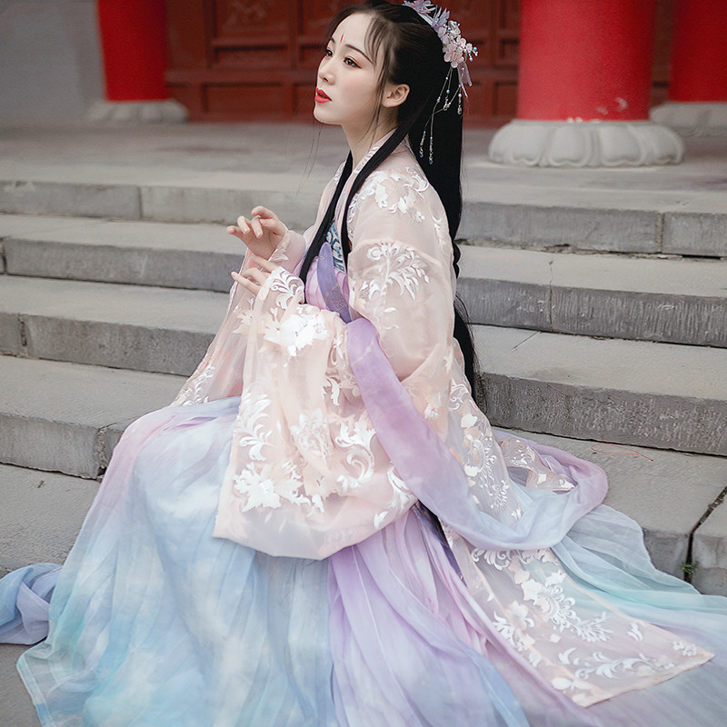 Vintage Tang Suit Ancient Hanfu Dress Women Chinese Traditional Costume Fairy Princess National Dance Women Hanfu Costume
