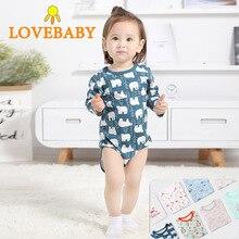 2 Pcs/Lot Newborn Baby Bodysuits 0-18M Twins Body Clothes 100% Cotton Girl Boy Jumpsuit bebe menina O-neck Infant sets