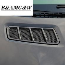 Carbon Fiber Color Car Front Hood Air Conditioning Vent Frame Decoration Sticker Trim For Mercedes Benz ML GL GLE GLS X166 W166