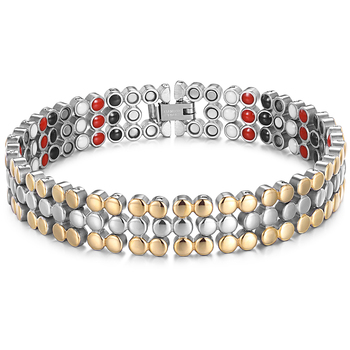RainSo Stainless Steel Magnetic Charm Bracelets for Women Bio Energy Therapy Love Bracelet Femme Health Jewelry Friendship Gifts 7