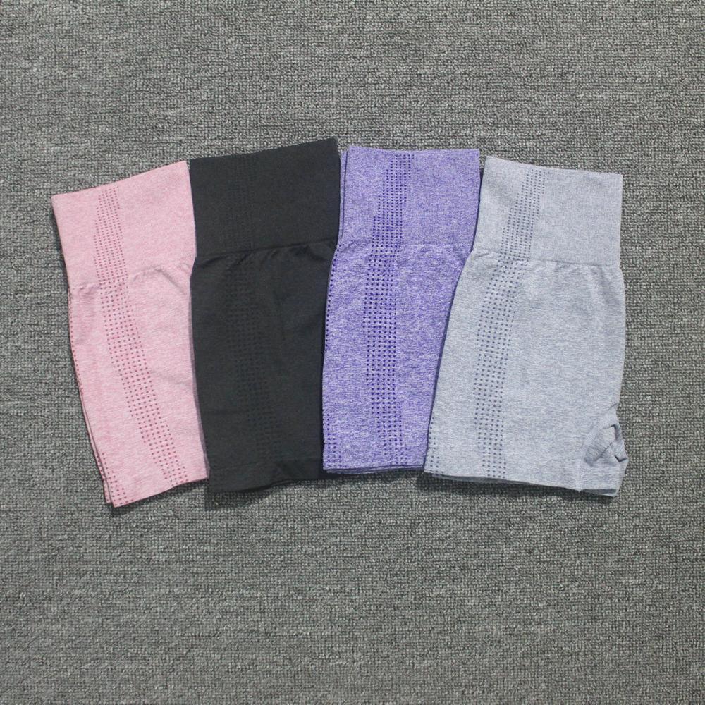 4 Solid Colors Vital Seamless Fitness Yoga Shorts High Waist Workout Shorts Scrunch Butt Yoga Shorts Sport Women Gym Leggings