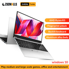 High 3.4G AMD Ryzen 3 2200U Laptop 15.6 Inch IPS Screen Windows 10 Notebook Gaming Laptops 8G/16G DDR4 128 256 1T SSD 1920x1080