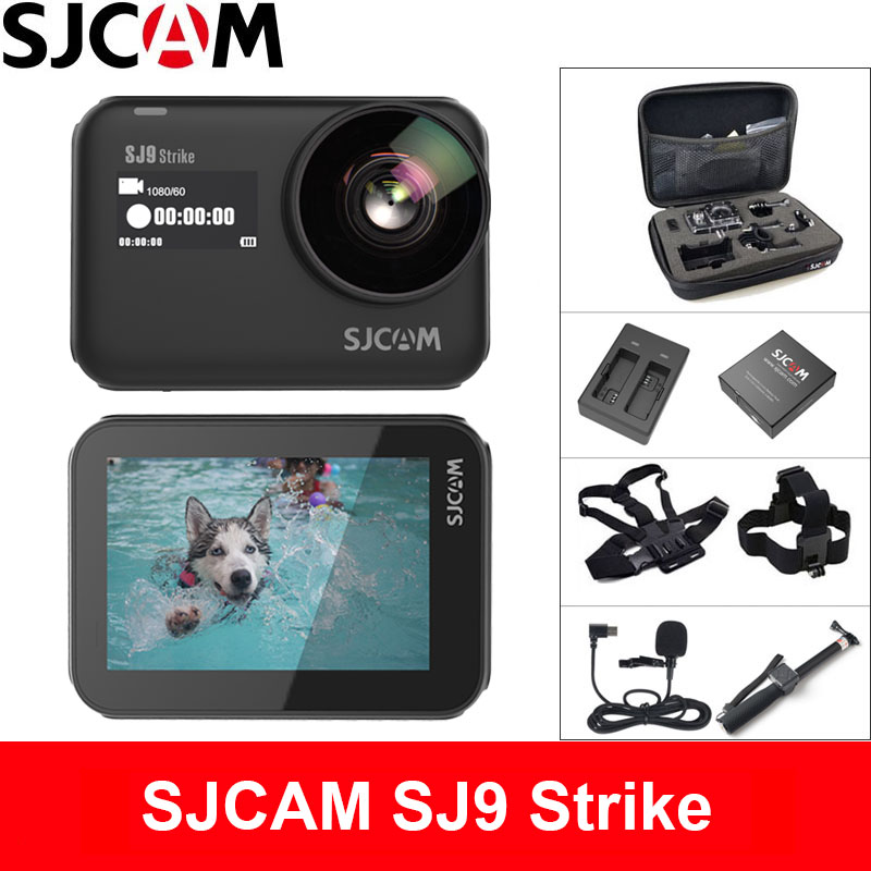 SJCAM SJ9 Strike Action Camera 4K 60fps WiFi Sports DV Body Waterproof Ambarella H22 Wireless Charging 2.33 Screen Gyro SJ Cam image