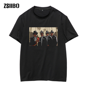 Summer Fashion Men's T Shirt Fashion Men Print Short Sleeve O-Neck T-Shirt Blouses African funeral ceremony professional team