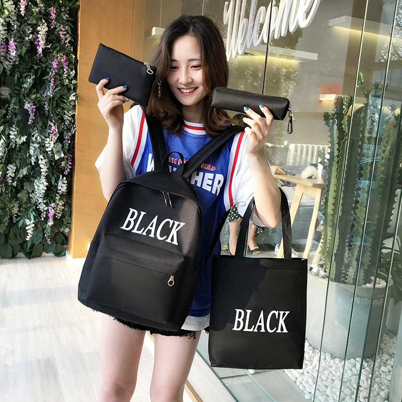 School Bag Women's Korean-style Campus Harajuku Ulzzang High School Students Simple Versatile Junior High School STUDENT'S Backp