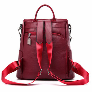Image 4 - Роскошные дизайнерские женские рюкзаки 2019, рюкзаки для девочек, винтажный рюкзак, женский кожаный рюкзак, Женский Повседневный Рюкзак