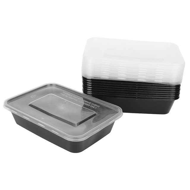 10 Pcs Reusable Bento Box Meal Storage Food Prep Lunch Box 3 Compartment Reusable Microwavable Containers School Food Container