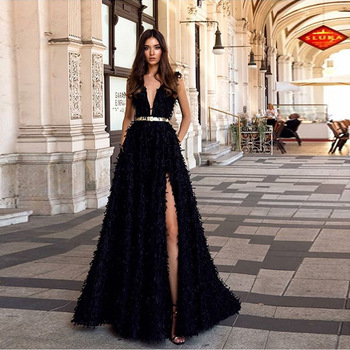 2019 Europe and America New Women's dress wish quick sale popular sexy deep V open back dress dress long skirt