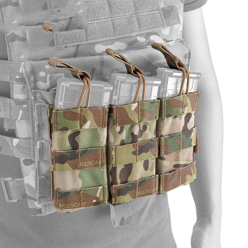Collection Here Tactical 5.56 .223 Magazine Pouch Molle Modular Triple Open Top Tactical Airsoft Mag Pouch 3547