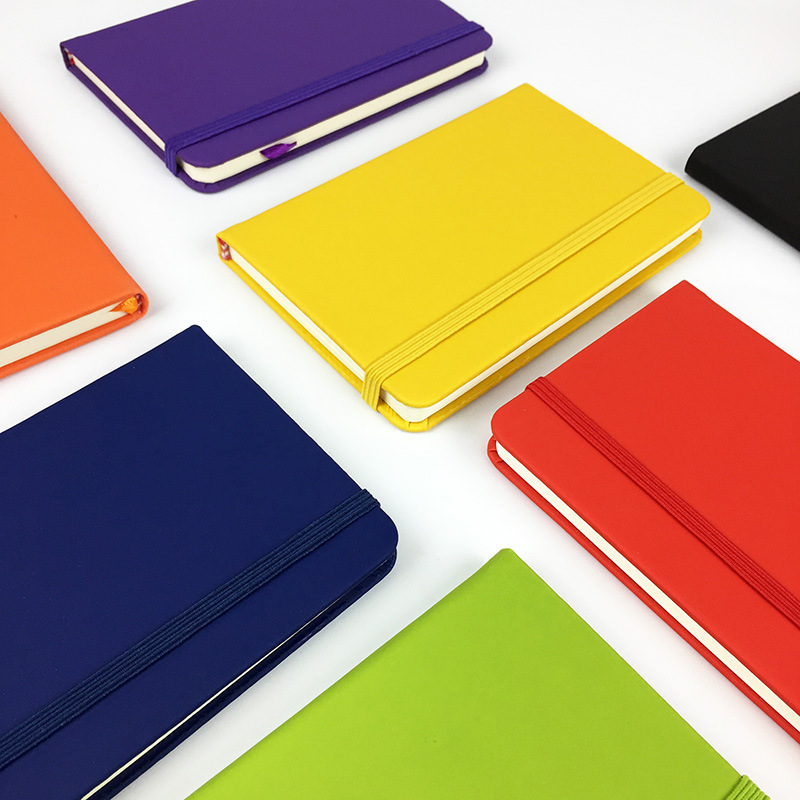Colorful A6 Notebook PU Leather Business Notepad A6 Straps Book Notes Diary Series 1PCS