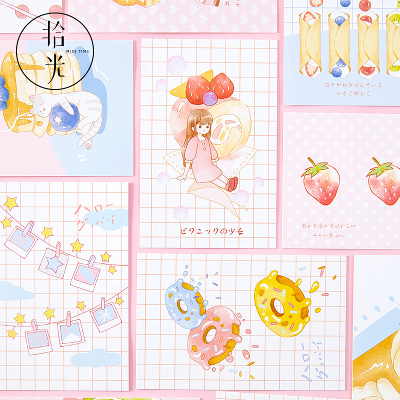 30 Pcs/Set Sweet Strawberry Greeting Cards Postcards Birthday Letter Business Gift Card DIY Journal Decoration