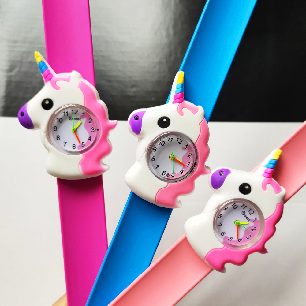 Children Watch Unicorn Pony Silicone Strap Analog Dial Quartz Watch Kids Wrist Watches For Boys Girls Xmas Gifts Cartoon Watch