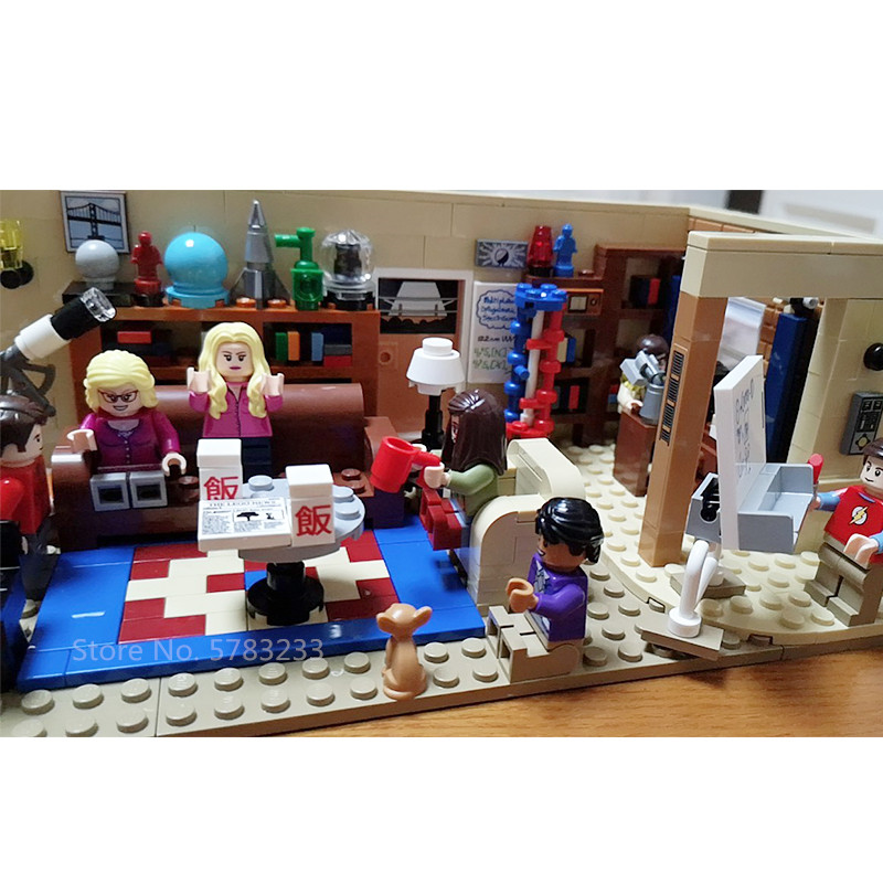 BOXED 16024 In Stock The Big Bang Theory 534pcs And Central Perk 1228pcs Ideas Model Building Blocks Bricks Toys 21302 21319 image