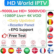 Suscripción mundial Pro TV francia Portugal Europa nordico TV Países Bajos Israel escandinavo TV Android Smart TV M3U IPTV(China)