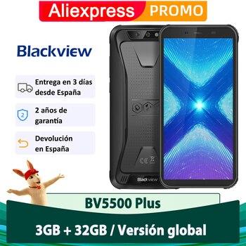 Перейти на Алиэкспресс и купить Blackview BV5500 Plus Android 10,0 смартфон 3 ГБ 32 ГБ IP68 Водонепроницаемый телефон 4400 мАч 4G мобильный телефон