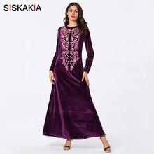 Siskakia Maxi Dress Thick Purple Long Dresses Full Sleeve Au