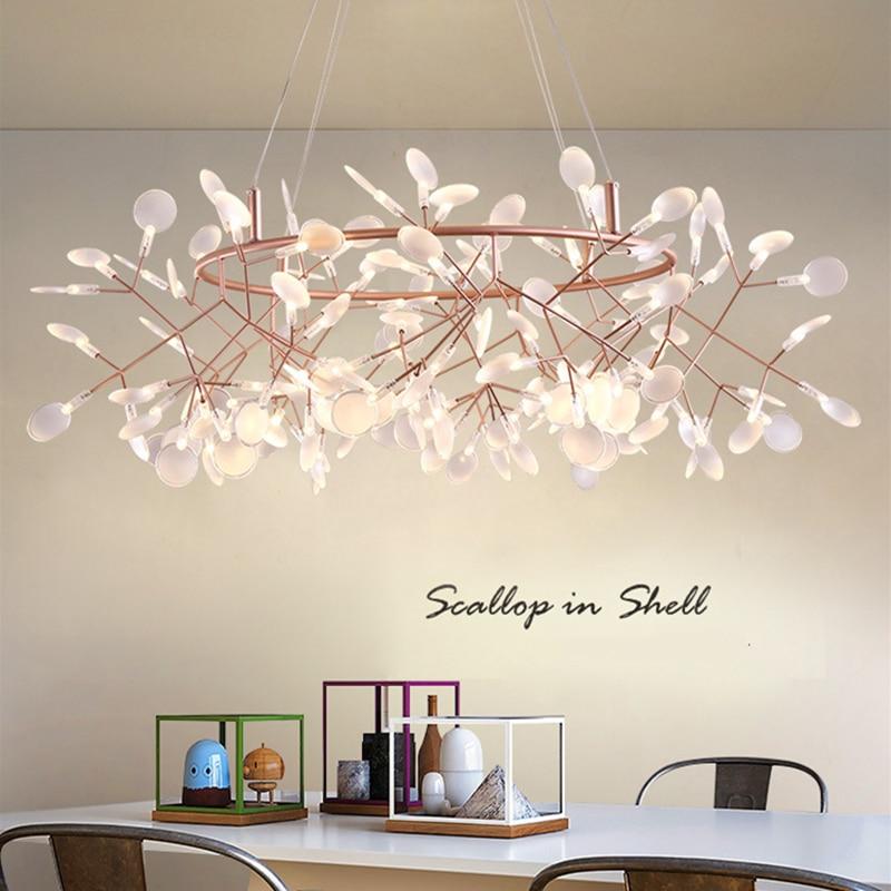 Lampe de lustre design décoratif nordique luminaires de luxe modernes d'intérieur pour salon salle à manger Loft chambre
