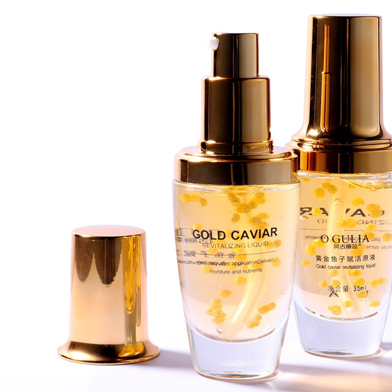 Gold Caviar Essence Moisturizing Firming Skin Smooth Fine Lines Anti-aging Face Serum