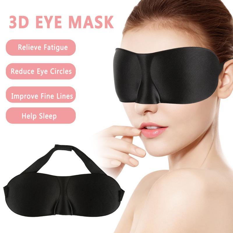 Eye Mask Travel Beauty Sleep Bedtime Red Cotton Blindfold Blinder Eyeshade