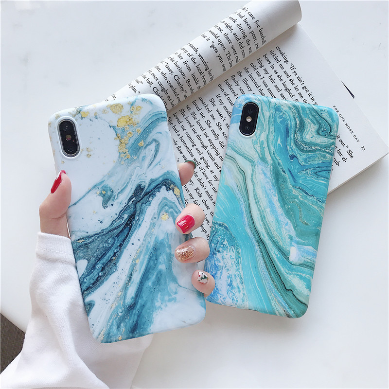 Silicone Matte <font><b>Case</b></font> For <font><b>Samsung</b></font> Galaxy <font><b>S9</b></font> S8 S10 <font><b>Plus</b></font> S10e Back Cover Retro Green Blue Art Marble <font><b>Phone</b></font> Shell Coque NEW image