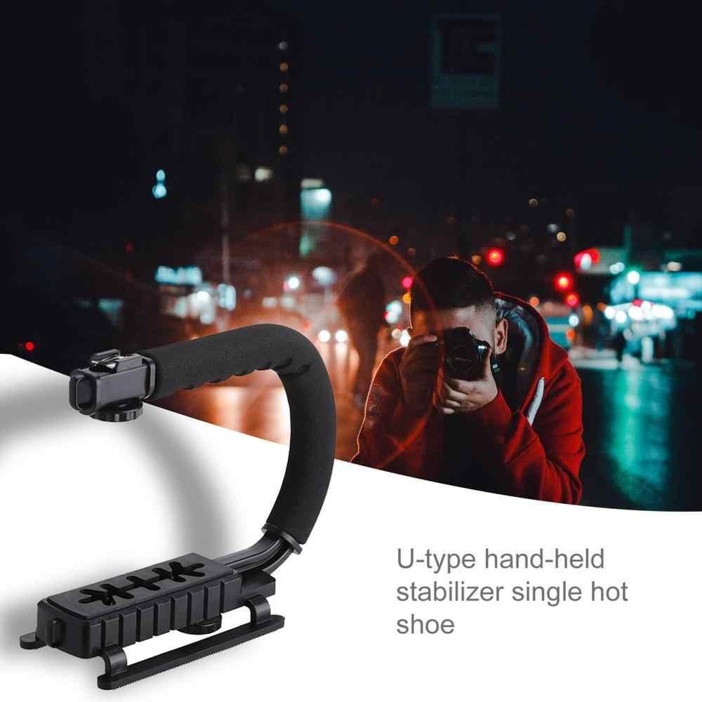 U צורת אחיזת סוגר נייד וידאו כף יד מצלמה מייצב עם נשלף חם נעל C-סוג סוגר