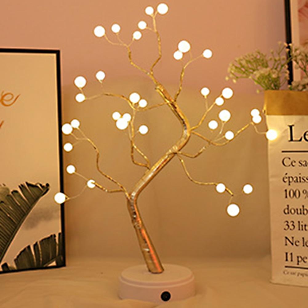 Tree Shaped LED Lamp Bonsai Style 36leds 108leds Copper Wire DIY USB Night Light Touch Switch Control Xmas Decorative Light #3