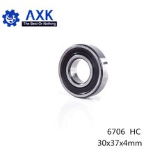 6706 Hybrid Ceramic Bearing 30*37*4 mm ABEC-1 ( 1 PC) Industry Motor Spindle 6706HC Hybrids Si3N4 Ball Bearings 3NC 6706RS thrust ball bearings axial 51128 abec 1 p0 140 180 31mm 1 pc